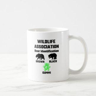 Identificação do urso da associação dos animais caneca de café