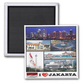 Identificação - Indonésia - Jakarta - amor de I - Ímã Quadrado