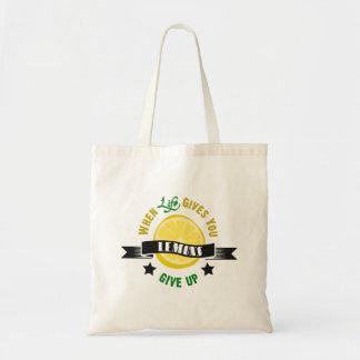 IfLife dá-o que os limões dão acima Bolsa De Lona