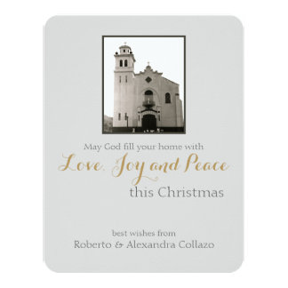Igreja Católica: Cumprimento do Natal Convite 10.79 X 13.97cm