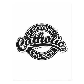 Igreja Católica de St Dominic preto e branco Cartão Postal