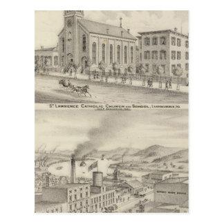 Igreja Católica e escola de St Lawrence Cartão Postal