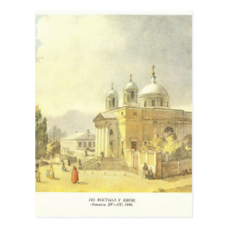 Igreja Católica em Kyiv por Taras Shevchenko Cartão Postal