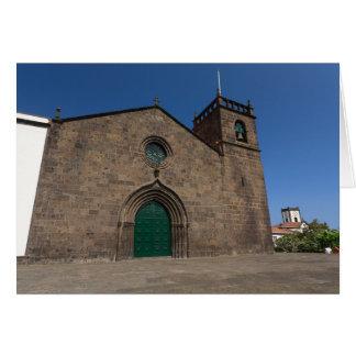 Igreja Católica portuguesa antiga Cartão Comemorativo