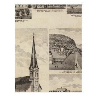 Igreja católica romana, residências, Minnesota Cartão Postal