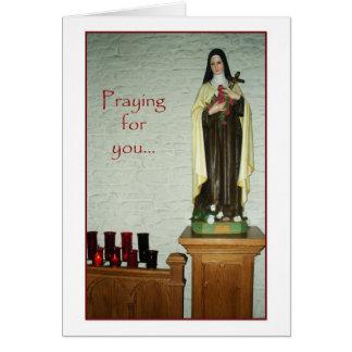 Igreja Católica santamente dos anjos - cartão de