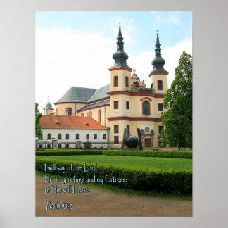 Igreja de Checo do 91:2 do salmo Poster