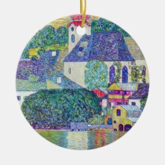 Igreja do St. Wolfgang por Gustavo Klimt, arte do Ornamento De Cerâmica