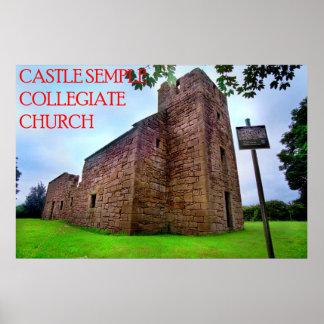 igreja escolar do semple do castelo poster
