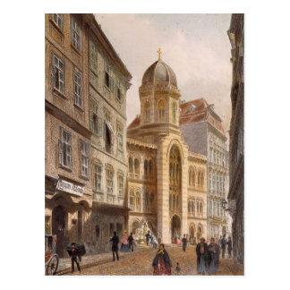 Igreja grega de trindade santamente, Viena por Cartão Postal