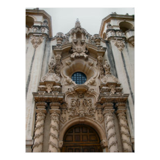 igreja histórica de San Diego Poster