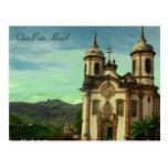 Igreja São Francisco de Assis, Ouro Preto, Brasil Cartão Postal