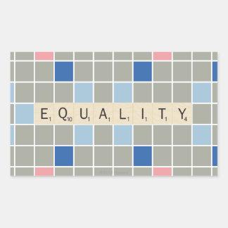 Igualdade Adesivo Retangular