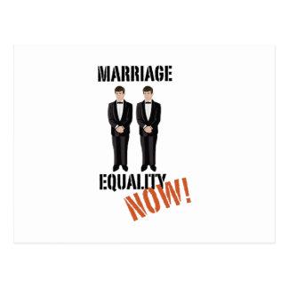 Igualdade do casamento agora! cartão postal