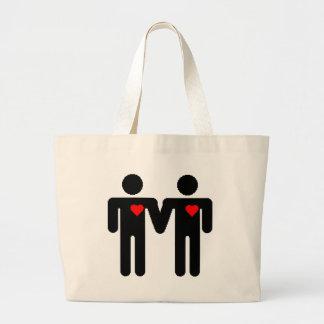 Igualdade do casamento bolsa tote grande