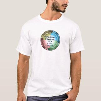 Igualdade do casamento camisetas