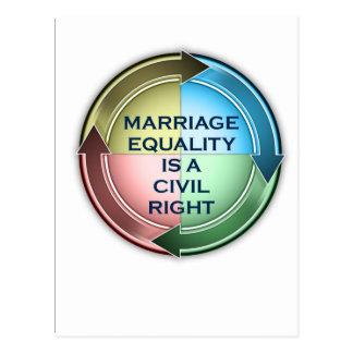 Igualdade do casamento cartão postal