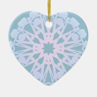 II nevado Ornamento De Cerâmica Coração