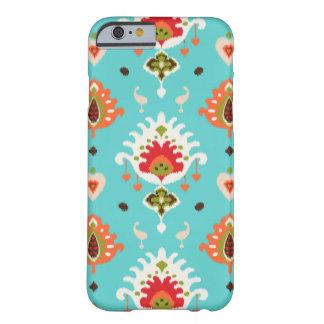 Ikat tribal de turquesa vibrante chique capa iPhone 6 barely there
