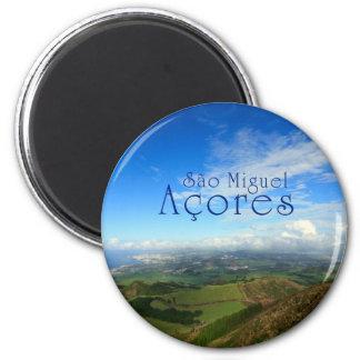 Ilha Açores de Miguel do Sao Ímã Redondo 5.08cm