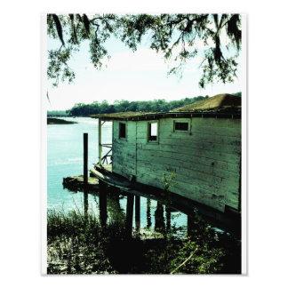 Ilha da casa de barco da esperança impressão de foto