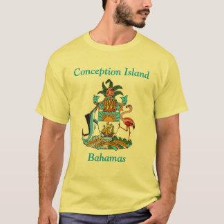 Ilha da concepção, Bahamas com brasão Tshirts