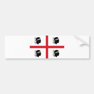 ilha da região de Italia da bandeira de sardinia é Adesivo Para Carro
