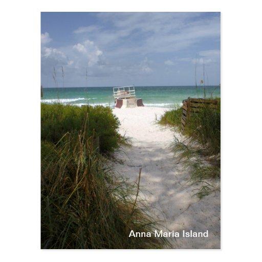 Ilha de Anna Maria Cartao Postal