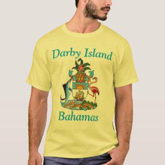 Ilha de Darby, Bahamas com brasão Camiseta
