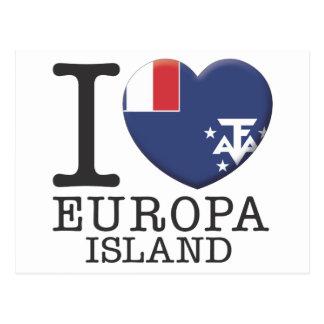 Ilha de Europa Cartão Postal