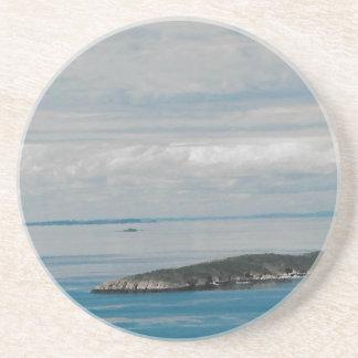 Ilha de solo da irmã, porta copos de arenito