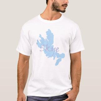 Ilha do mapa de Skye e do t-shirt do texto