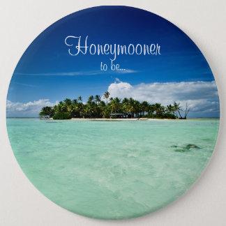 Ilha do Pacífico com o botão da lua de mel das Bóton Redondo 15.24cm