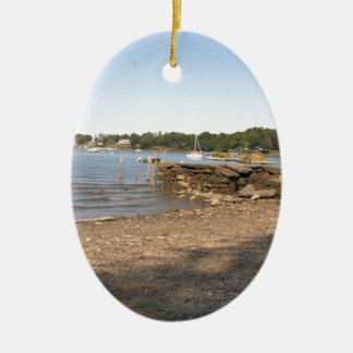Ilha dos picos, MIM praia do clube Ornamento De Cerâmica Oval