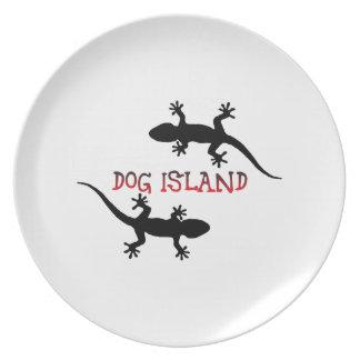 Ilha Florida. do cão Prato