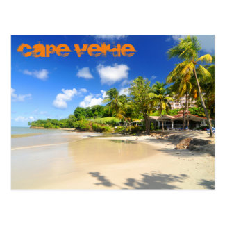 Ilha tropical em Cabo Verde Cartão Postal