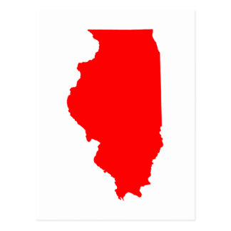 Illinois vermelho cartão postal