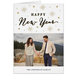 Ilumine acima o cartão da foto do feriado do céu |