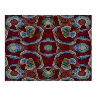 Ilusão abstrata cartão postal