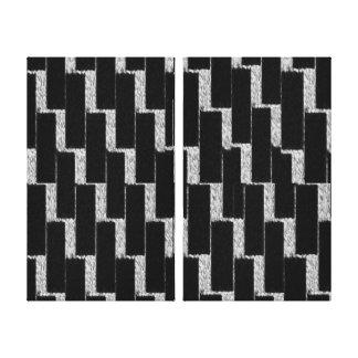 Ilusão de prata e preta impressão em tela