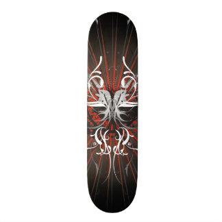 Ilustração abstrata com motriz floral shape de skate 20cm