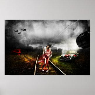Ilustração artística do apocalipse do zombi pôster