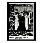 Ilustração-Aubrey Beardsley 5 do Cartão-Vintage Cartões Postais