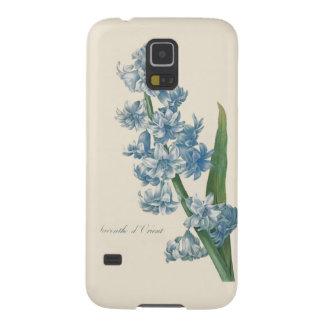 Ilustração azul da flor do jacinto capinhas galaxy s5