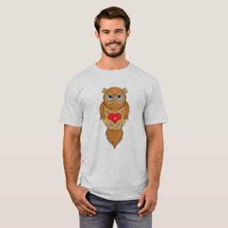Ilustração da coruja camisetas