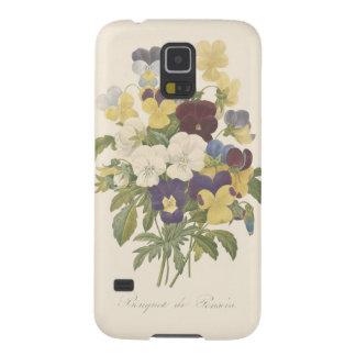 Ilustração da flor dos Pansies do amor perfeito do Capinhas Galaxy S5