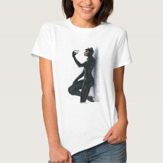 Ilustração da mulher-gato t-shirts