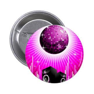 ilustração da música com a bola do auto-falante e bóton redondo 5.08cm
