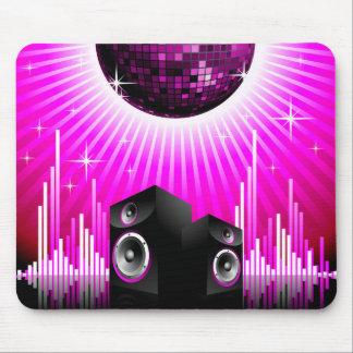 ilustração da música com a bola do auto-falante e mouse pad