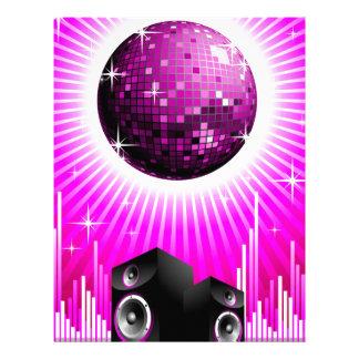 ilustração da música com a bola do auto-falante e papel timbrado